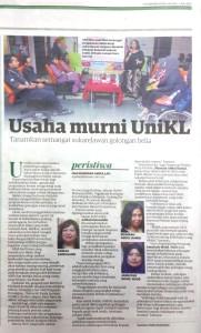 Jun2-15 Utusan Malaysia Usasha Murni UniKL